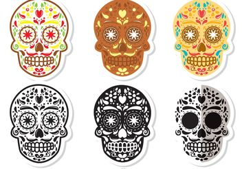 Dia de Los Muertos Sugar Skull Vector Pack - Kostenloses vector #156413