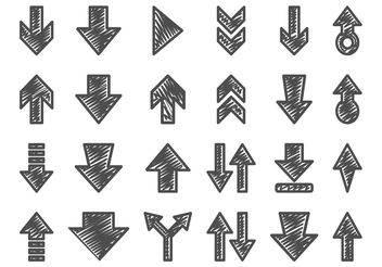 Hand Drawn Arrow Set - vector gratuit #156583