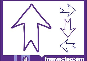 Hand Drawn Direction Arrows - vector #156593 gratis