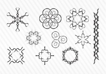 Decorative Sketch Vector Symbols - Free vector #156663