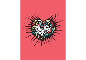 Free Grungy Decorative Heart Vector - Free vector #156763