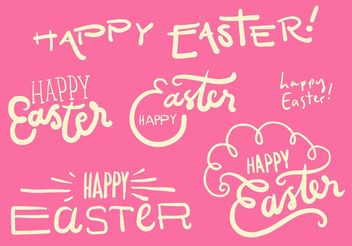 Happy Easter Vector Graphic Set - Free vector #156873