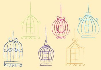 Free Sketchy Vector Bird Cage - бесплатный vector #156983