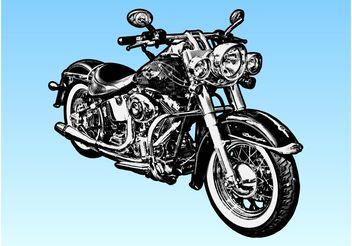 Harley Davidson Motorcycle - Free vector #157003