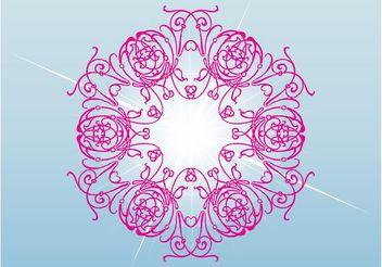 Pink Flower Vector - Free vector #157123