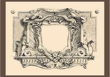 Vintage Frame Graphics - Free vector #157143