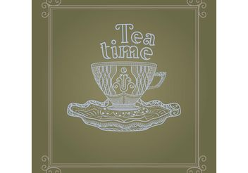 Vintage Cup Background Vector - vector gratuit #157273