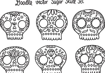 Free Dia de Los Muertos Sugar Skull Vector - Kostenloses vector #157313