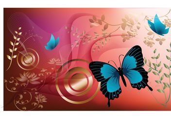 Butterfly Graphics - vector gratuit #157363