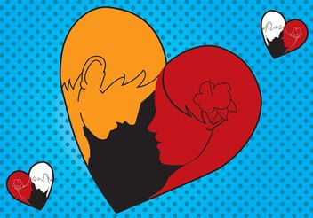 Loving Man Woman Heart - Kostenloses vector #157403