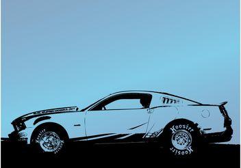 Car Trace - vector gratuit #157533