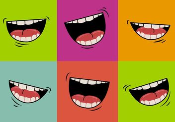 Mouth talking vector - Free vector #157553