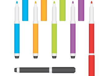 Marker Pen Vectors - vector gratuit #157563