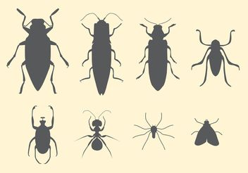 Free Vector Set of Insects - Kostenloses vector #157613