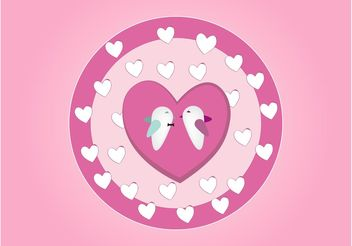 Vector Birds In Love - vector gratuit #157623