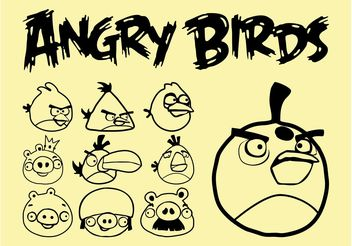 Angry Birds Vector - Free vector #157633
