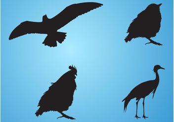 Bird Silhouettes - Free vector #157723