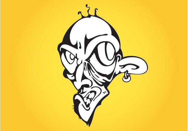 Evil Cartoon Man - Free vector #157823