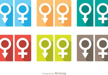 Man And Woman Symbol Rest Room Icons Vector Pack - Free vector #157833