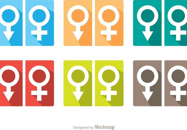 Man And Woman Symbol Rest Room Icons Vector Pack - бесплатный vector #157833