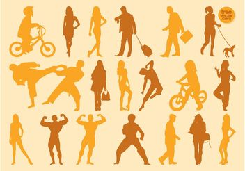 Vector People Graphics - Free vector #157983