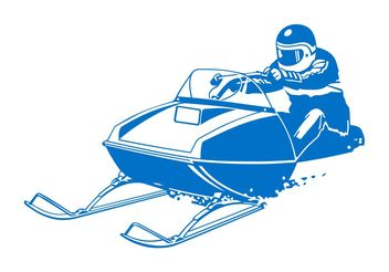 Man On Motorized Sleigh - vector gratuit #158113