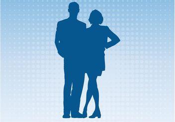 Couple Silhouette - Kostenloses vector #158153