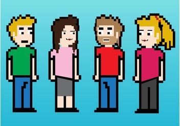 8-Bit Friends - Free vector #158173