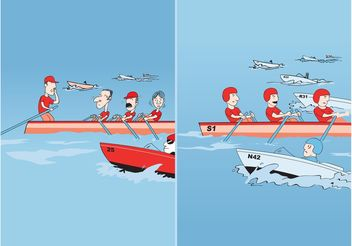Boat Race - Free vector #158213