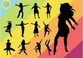 Vector Dancers - vector gratuit #158263