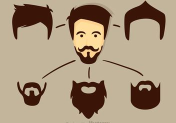 Vector Cool Dude With Beard - Free vector #158323