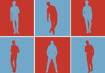 Free Vector Men Silhouette Set - Free vector #158333