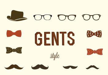 Hipster Gentlemen Vectors - vector gratuit #158453