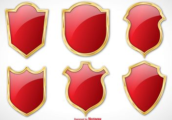Elegant Vector Shield Set - Free vector #158473