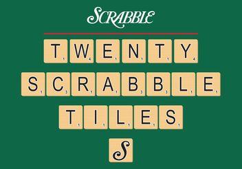 Scrabble Tiles Vector Free - Free vector #158493