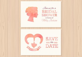 Free Wedding Invitation Vector Cards - Free vector #158503