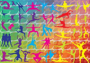Colorful Dance Graphics - Free vector #158533
