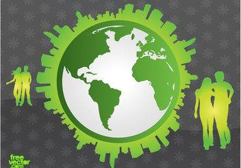 Green Earth - vector gratuit #158543