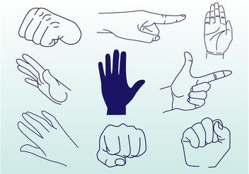Hands Vectors - бесплатный vector #158563