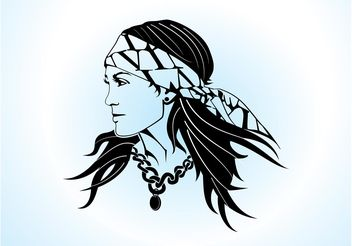 Gypsy Woman Vector - Free vector #158573
