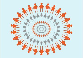 Circle of Friends - Kostenloses vector #158613