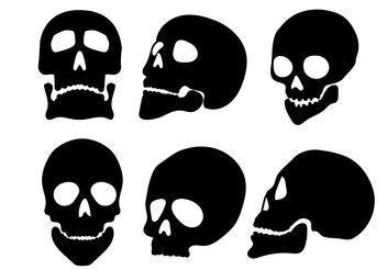 Skull Silhouette Vectors - Free vector #158673