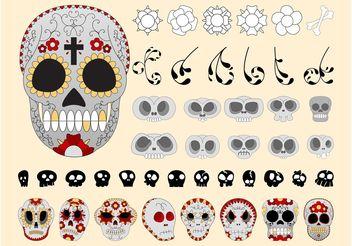 Sugar Skulls Vectors - Free vector #158683