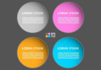 Free Text Box Vector Templates - Free vector #158703