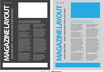 Magazine / News Letter Template - vector gratuit #158713