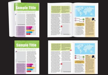 Map Magazine Layout - Kostenloses vector #158743