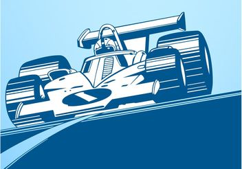Racing Car Layout - vector gratuit #158803