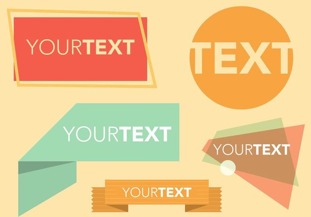 Retro Text Box Free Vectors - бесплатный vector #158813