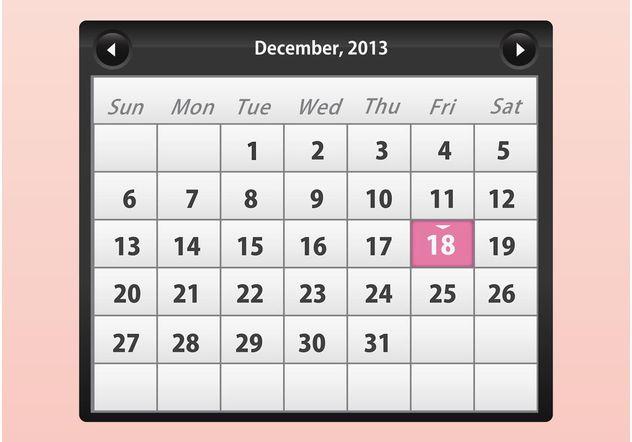 Calendar Vector - vector #158943 gratis