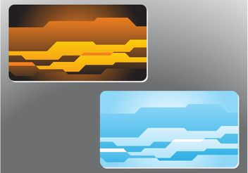Abstract Shapes Business Cards - vector gratuit #158973